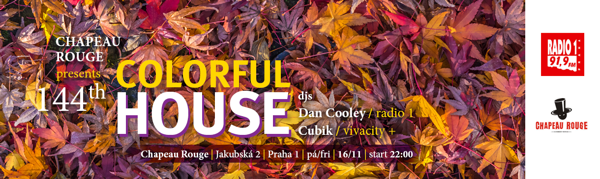 COLORFUL HOUSE MUSIC V CHAPEAU ROUGE