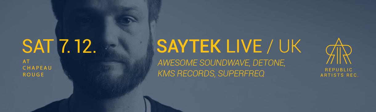Britský live performer Saytek v Chapeau Rouge
